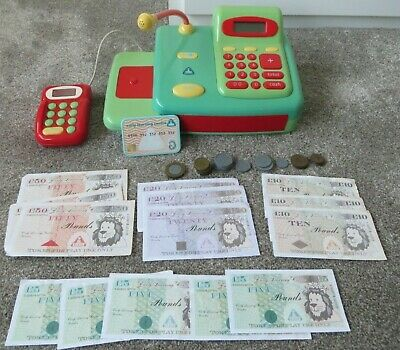 Early Learning Centre Cash Register Till With Toy Credit Card And Money • 1.50£