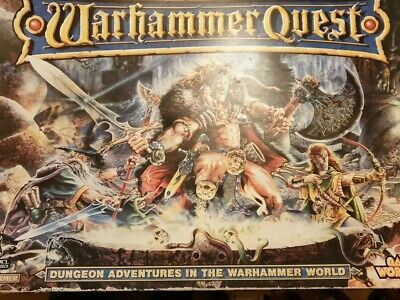 Warhammer Quest Role Play Fantasy Board Game Unpainted  Good Condition. • 62£