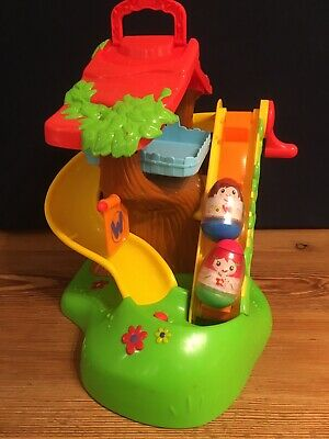 PLAYSKOOL WEEBLES WOBBLE MUSICAL TREE HOUSE With MUSIC And SOUNDS & 2 WEEBLES • 14.80£