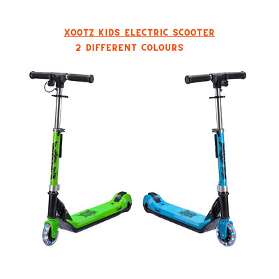 Xootz Kids Electric Scooter Folding With LED Light Up Wheel And Collapsible Hand • 89.99£