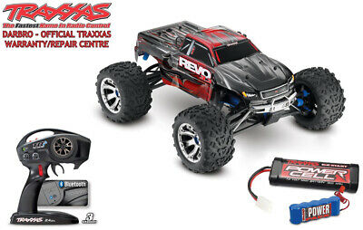 Traxxas Red Revo 3.3 1:10 4X4 Nitro Monster Truck With Reverse - TRX53097-3-RED • 736.99£