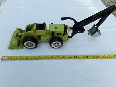 Vintage Tonka Trencher Green Digger Toy With Backhoe • 9£
