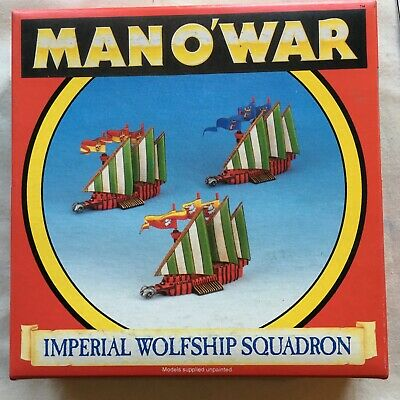 Man O'War Imperial Wolfship Squadron Games Workshop Boxed Unpainted • 44£