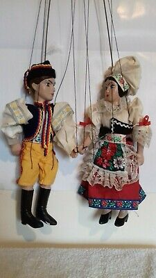 Marionette Puppet String Puppets Prague Traditional Costume Marionettes • 20£