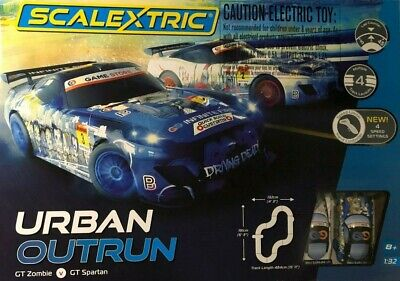Scalextric Urban Outrun Gt Zombie V Gt Spartan New 4 Speed Setting Controler • 46£