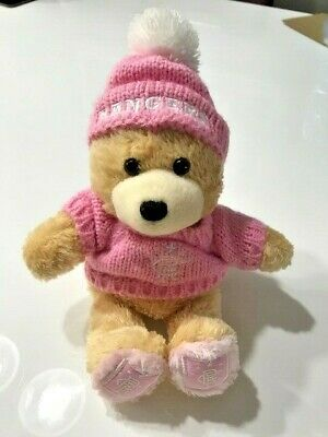 Cute Pink (Glasgow) Rangers Bear - 7 Inches Seated • 5£