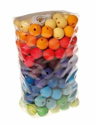 Grimm's Game And Wood Design Grimm's 200 Piece Beads, 20mm • 200.87£