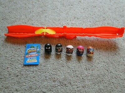 Mighty Beanz Flip Track + 5 Beans Inc. 4 Fortnite Ones And Tricks&games Booklet • 9.99£