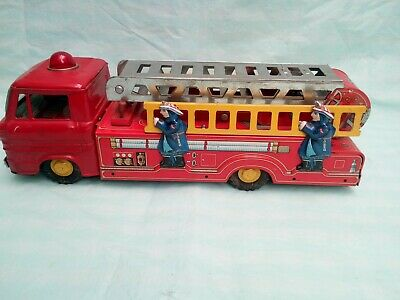 Very Rare Vintage Tin Plate  Friction Fire Truck  1960 's • 175£