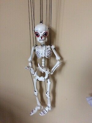 Vintage 1960's Pelham Puppet Dis-Jointing Skeleton. Complete. Boxed. • 15£