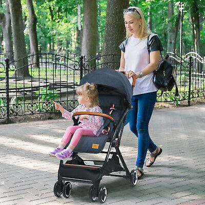 Folding 6-in-1 Baby Tricycle Kids Detachable Stroller Trike Adjustable Canopy • 88.99£