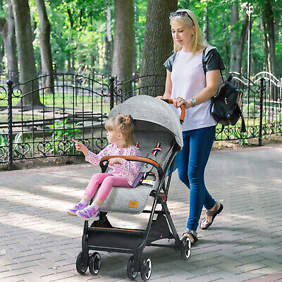 Folding 6-in-1 Baby Tricycle Kids Detachable Stroller Trike Adjustable Canopy • 99.99£
