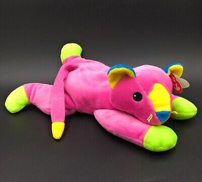 "Ty Meow Pink Cat Kitten Soft Plush Stuffed Toy 1998 - 13"" Pillow Pals -New • 19.99£"