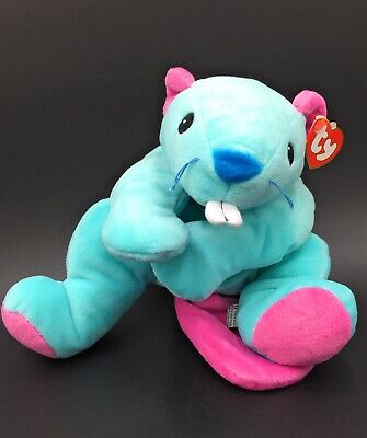 "Ty Chewy Blue Platypus Beaver Soft Plush Stuffed Toy 1998 - 13"" Pillow Pals -New • 44.99£"