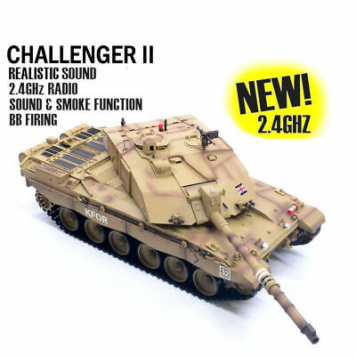 Heng Long Radio Remote Control RC Tank Challenger 2 Version 6 With Infrared   • 189.99£