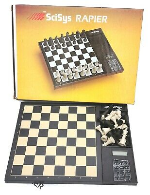 New Rare Vintage Boxed Scisys Rapier Desktop Electronic Chess Computer  • 150£