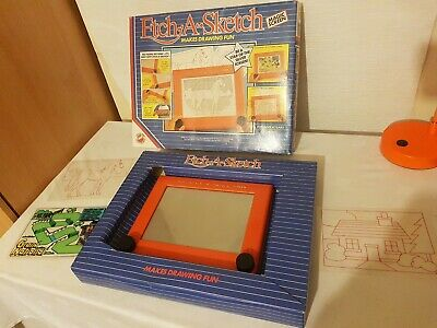 Vintage 1986 Etch A Sketch By Peter Pan Playthings Magic Screen Rare With A Box • 34.99£