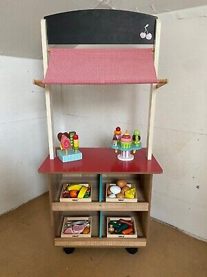 Children's 2 In 1 Play Shop & Café With Ice Creams, Lollies And Crates Of Food • 30£