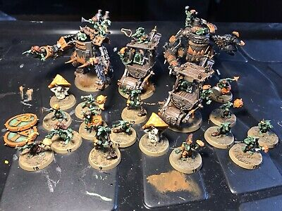 """Blood Bowl Snotling Team Nicely Painted 20 Players Includes Custom Mech """"Trolls"""" • 250£"""