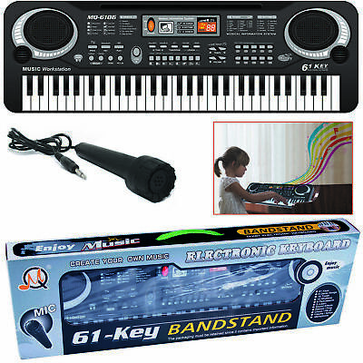 61 Keys Digital Music Electronic Keyboard Electric Piano Organ & Microphone Set • 12.95£