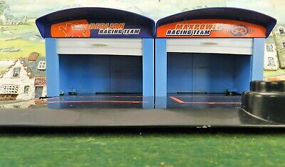 Halsall 1:32? Double Garage Scalextric Trackside Scenery Prop Diorama Projectp39 • 14.99£