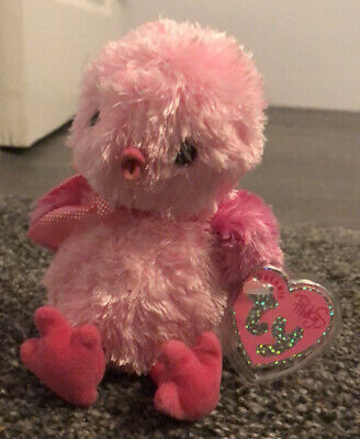 Ty Beanie Baby Pinkys Chenille - The Pink Chick - Mint - Retired  • 1.60£