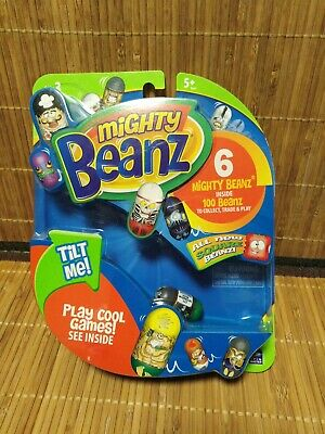 Mighty Beanz 6 Mighty Beanz - Play Cool Games See Inside - Brand New Sealed • 3.99£