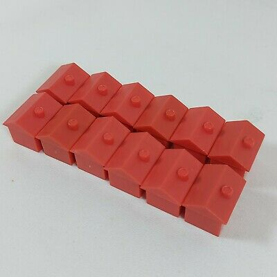 MONOPOLY 12x Red Hotels - Original Spare Pieces • 3.99£