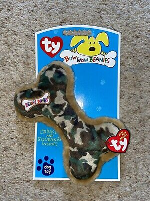Ty Bow Wow Beanies Camoflague Dog Toy (medium) • 3.50£