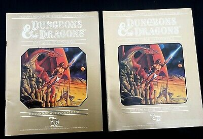 Dungeons & Dragons Players & Dm's Guides To Immortals 2 Vols 1st Ed 1986 Mentzer • 49.99£