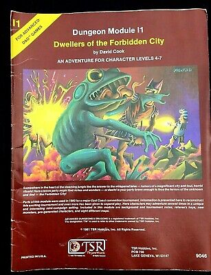 Dungeons & Dragons Dungeon Module I1 Dwellers Of The Forbidden City 1981 D. Cook • 14.99£