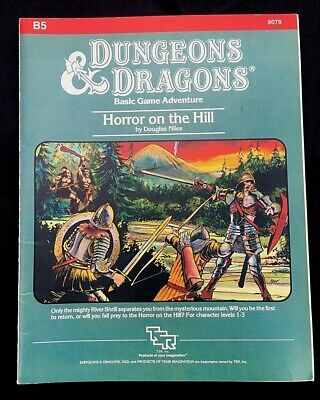 Dungeons & Dragons Basic Game Adventure Module B5 Horror On The Hill 1983 Niles • 19.99£