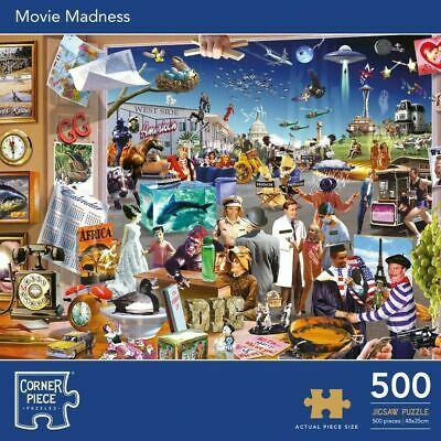MOVIE MADNESS 500 Pieces Jigsaw Puzzle SEALED  • 10.49£
