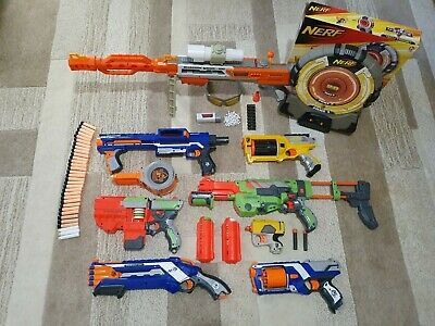 Huge Selection Of Nerf Dart & Disc Blasters With Ammo And Extras • 20£