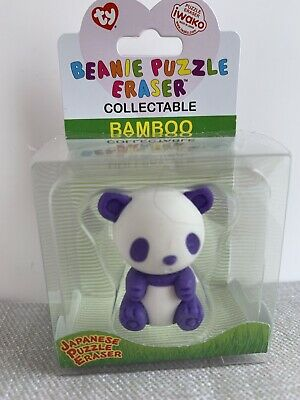 New!! Ty 'bamboo' The Panda Collectable Beanie Puzzle Eraser • 0.99£