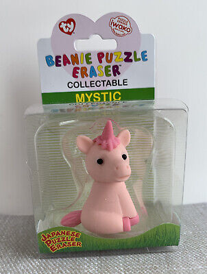 New!! Ty 'mystic' The Unicorn Collectable Beanie Puzzle Eraser • 0.99£