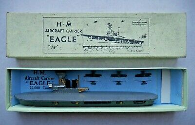 Crescent Toys Hm Eagle Aircraft Carrier 1935 Lead Waterline Ship Rare Boxed I826 • 125£