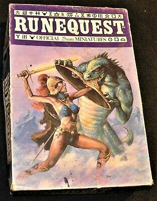 Runequest 25mm Miniature Set, Vintage, Metal Figures, Citadel, Games Workshop • 10£