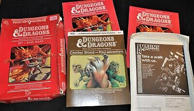 Dungeons & Dragons Basic Set 1, 1st Edition, Vintage Fantasy Role Playing 1983 • 5£