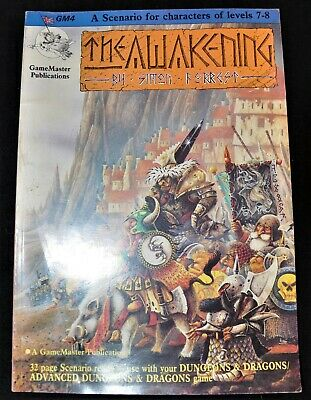 The Awakening By Simon Forrest, Dungeons & Dragons 32 Page Scenario Vintage 1986 • 5£