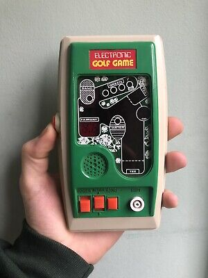 Very Rare Vintage Bandai Hales Hand Held Electronic Golf Game. • 8£