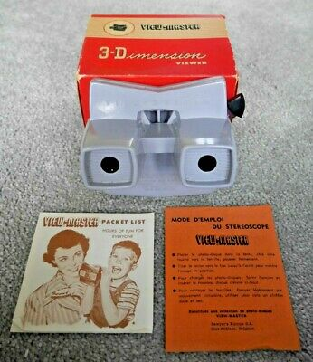 Very Rare Grey Viewmaster Model E Viewer Made In Belgium Near Mint Boxed   I864 • 495£