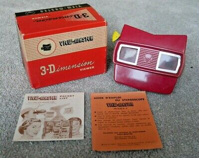 Very Rare Cherry Red Viewmaster Model E Viewer Belgium Boxed Scarce  I865 • 69.95£