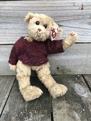 "TYLER  TY BEAR, Attic Treasure, With His Jumper RARE & COLLECTABLE 11"" • 15£"