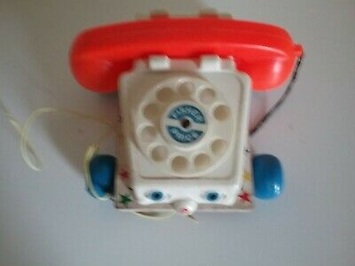 Vintage Fisher Price Pull Along Telephone • 4.50£