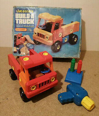 E** VINTAGE 1983 Matchbox Live N Learn Build A Truck Educational Toy • 25£