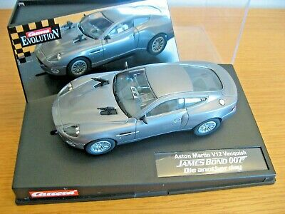 Scalextric Carrera Evolution Aston Martin V12 Vanquish 007 Die Another Day 25467 • 40£