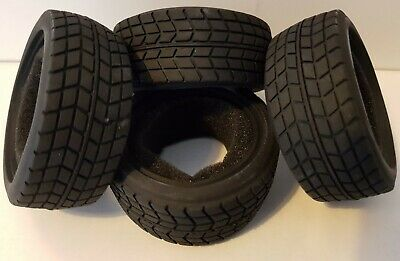 1/10 RC Car On Road/rally/touring Tyres X4 Block Tread • 10.75£