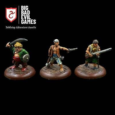 Pre-painted Pirate Miniatures Set 2 | Cast Metal And Painted For D&D • 29.99£
