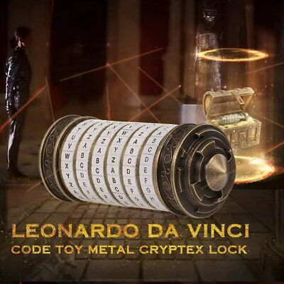 Da Vinci Code Cryptex Mini Lock Box Creative Romantic Anniversary Birthday Gift • 32.95£